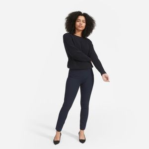 Everlane Navy Cotton Stretch side zip pant